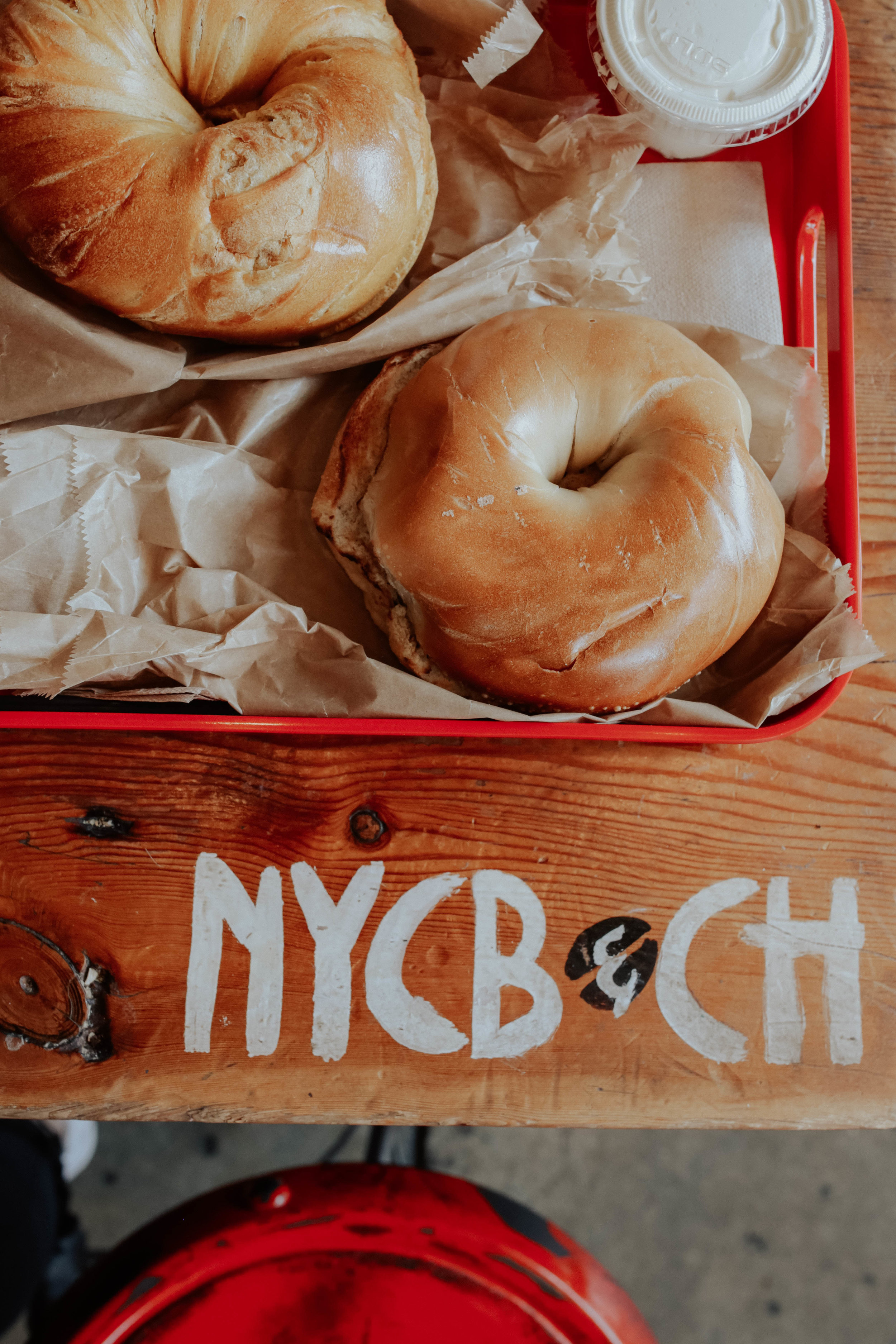 - 6. NYCBCH's french toast bagel. no words. i hate eggs so french toast is iffy for me but mannnn i could probably eat one of these every day i'm in town.. or maybe one for the entire trip because they are GINORMOUS.