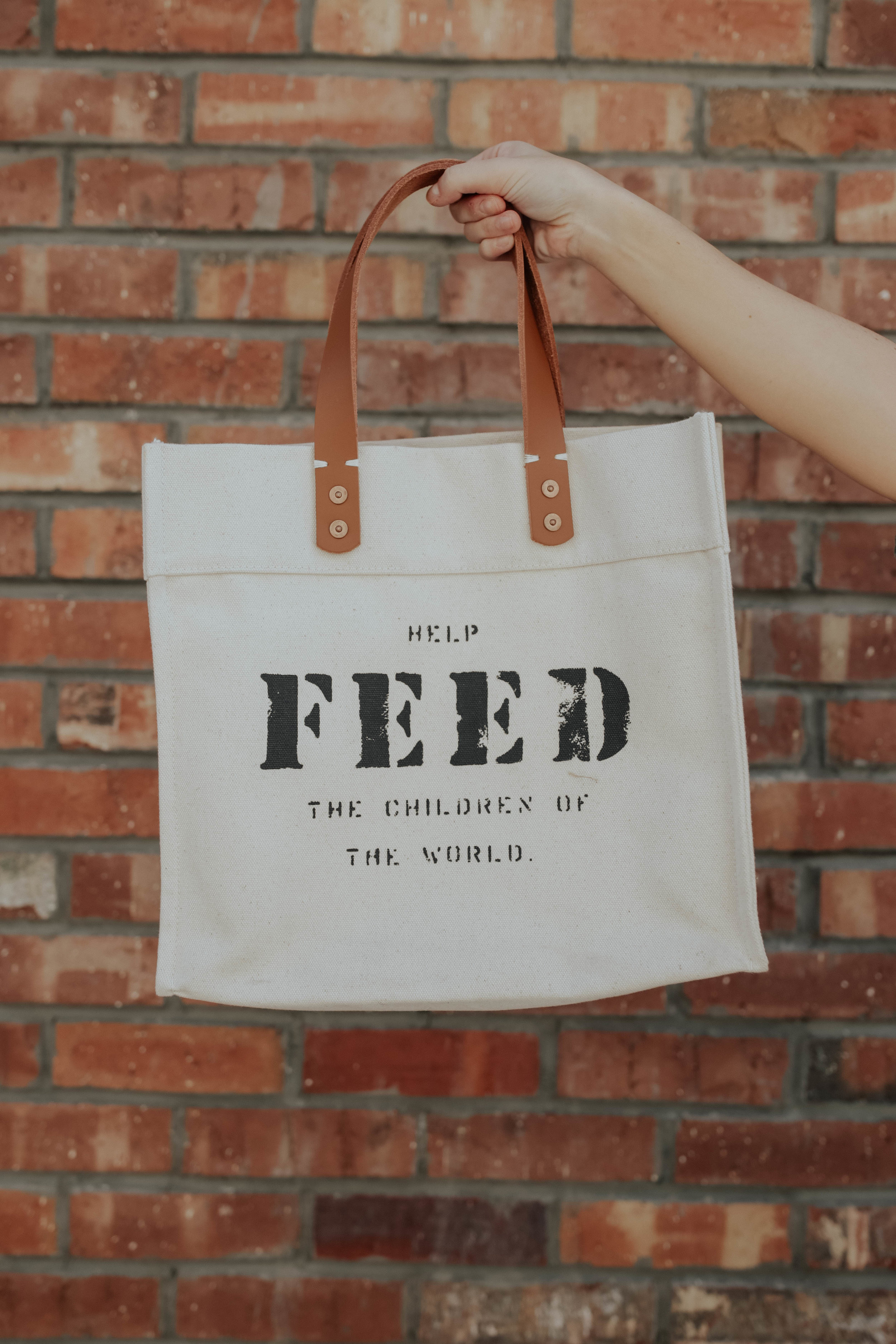 shop the Market Canvas tote - which provides 50 meals