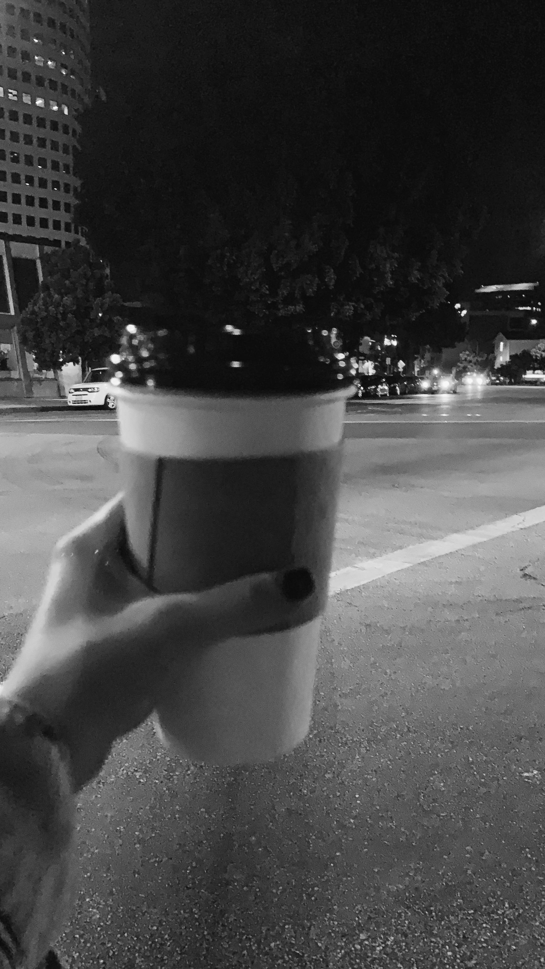 get tea at 12 AM and walk around. -