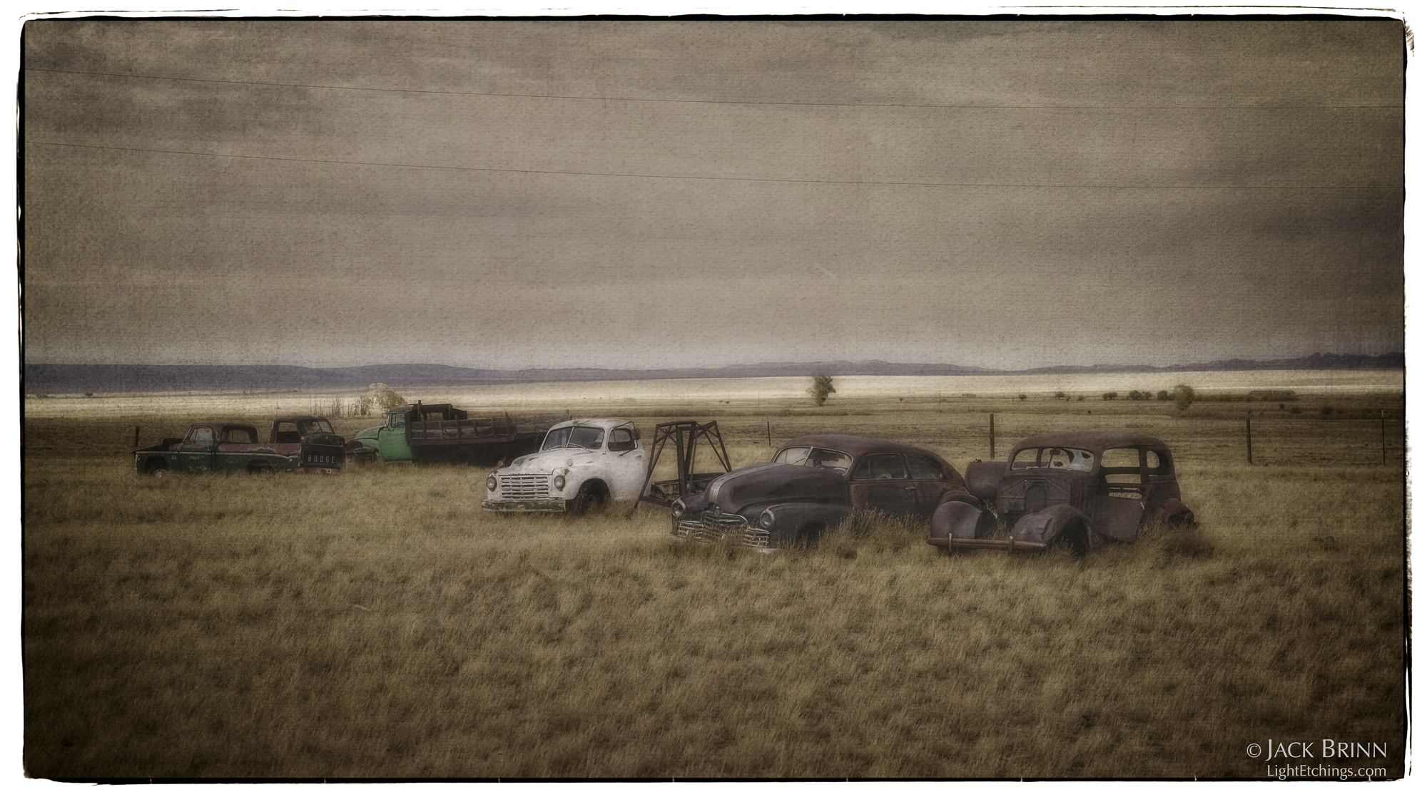 Bosler's graveyard of the rusted automobile.