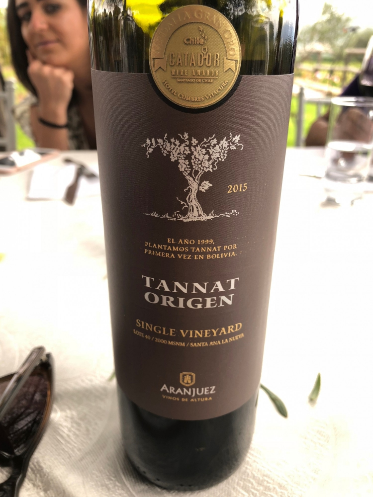 This Tannat from Tarija has extremely high levels of antioxidants. The Tannat grape is naturally very high in polyphenols and other compounds, but wine made at altitude has been shown to be even  higher in the healthy components  that our bodies appreciate.