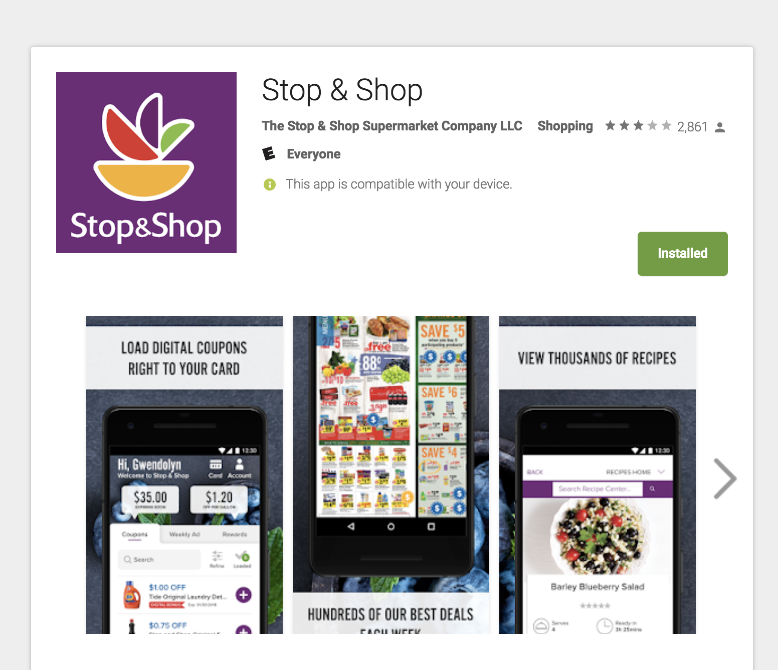 Stop and Shop Google Play Store featured images