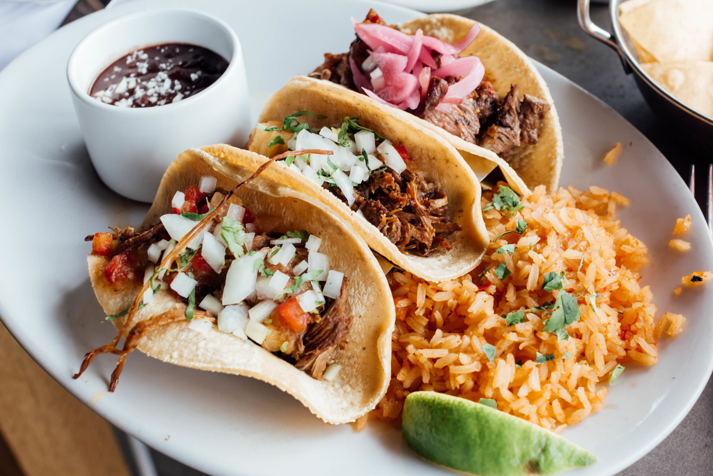 CARNITAS AND STEAK TACOS