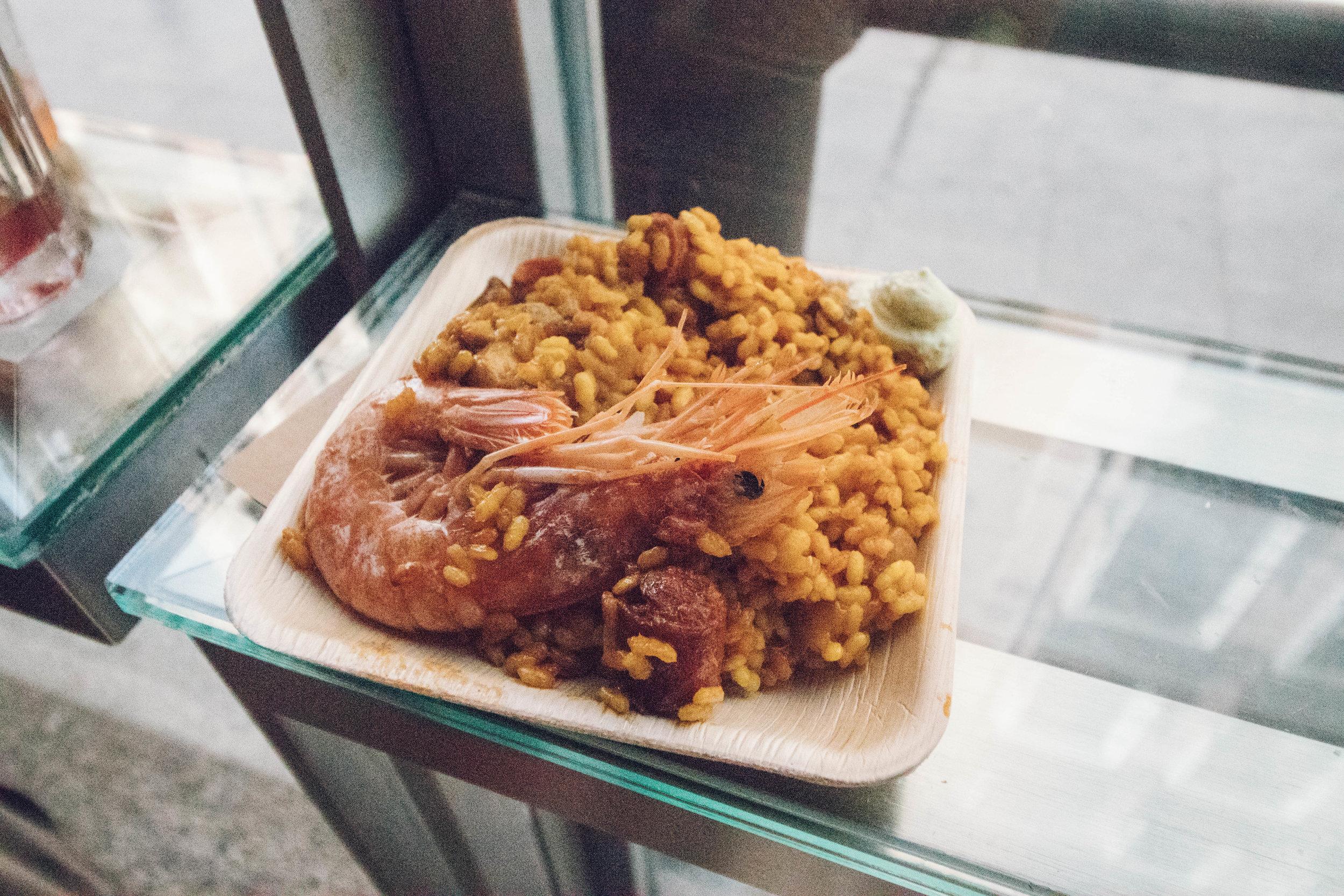 Copy of Seafood Paella in Mercado San Miguel