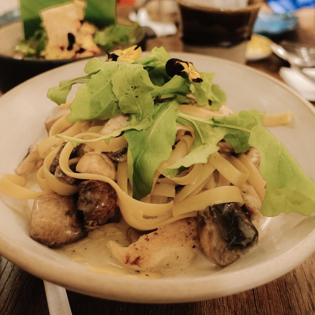 Chicken & Wild Mushroom Pappardelle