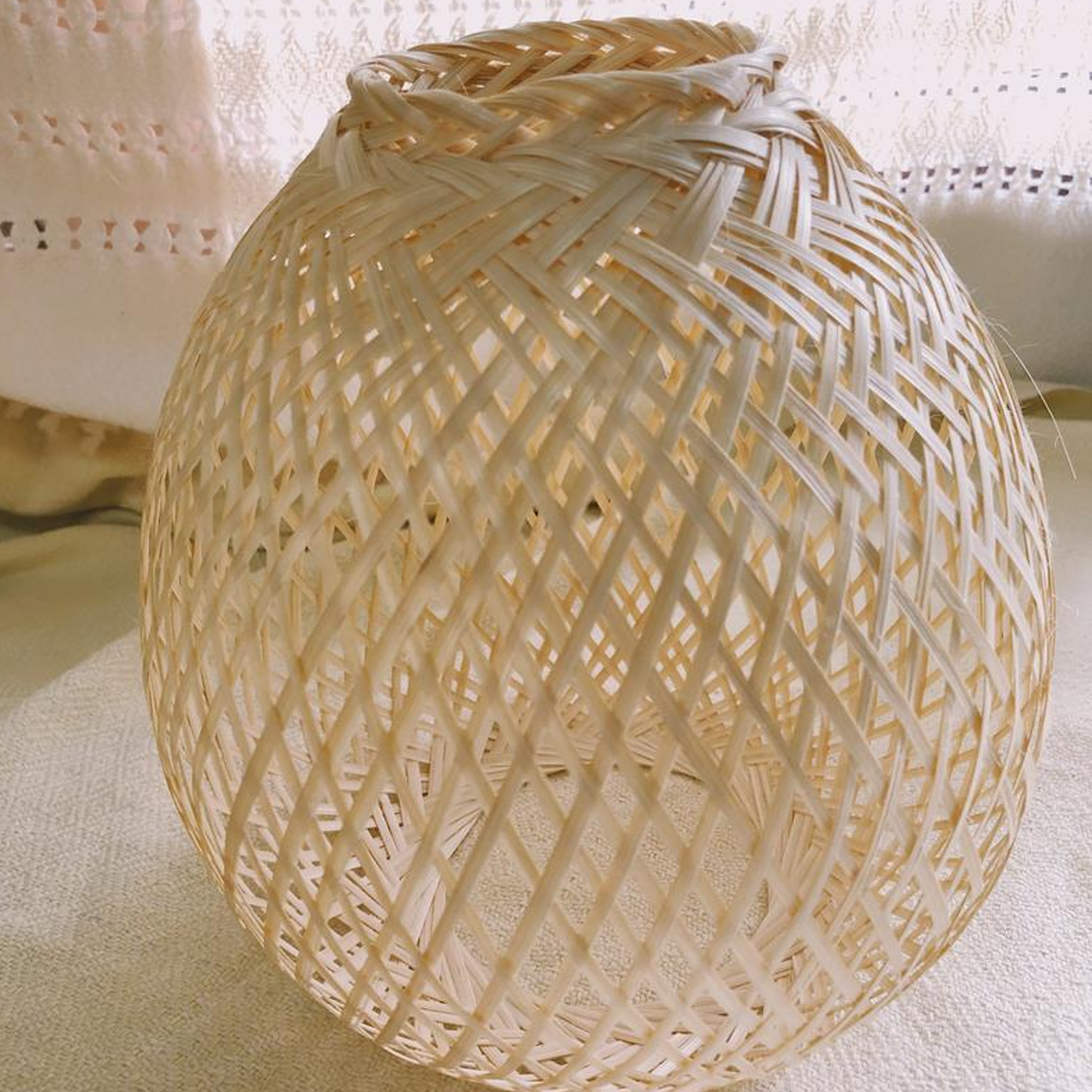 Copy of Woven Bamboo Lampshade