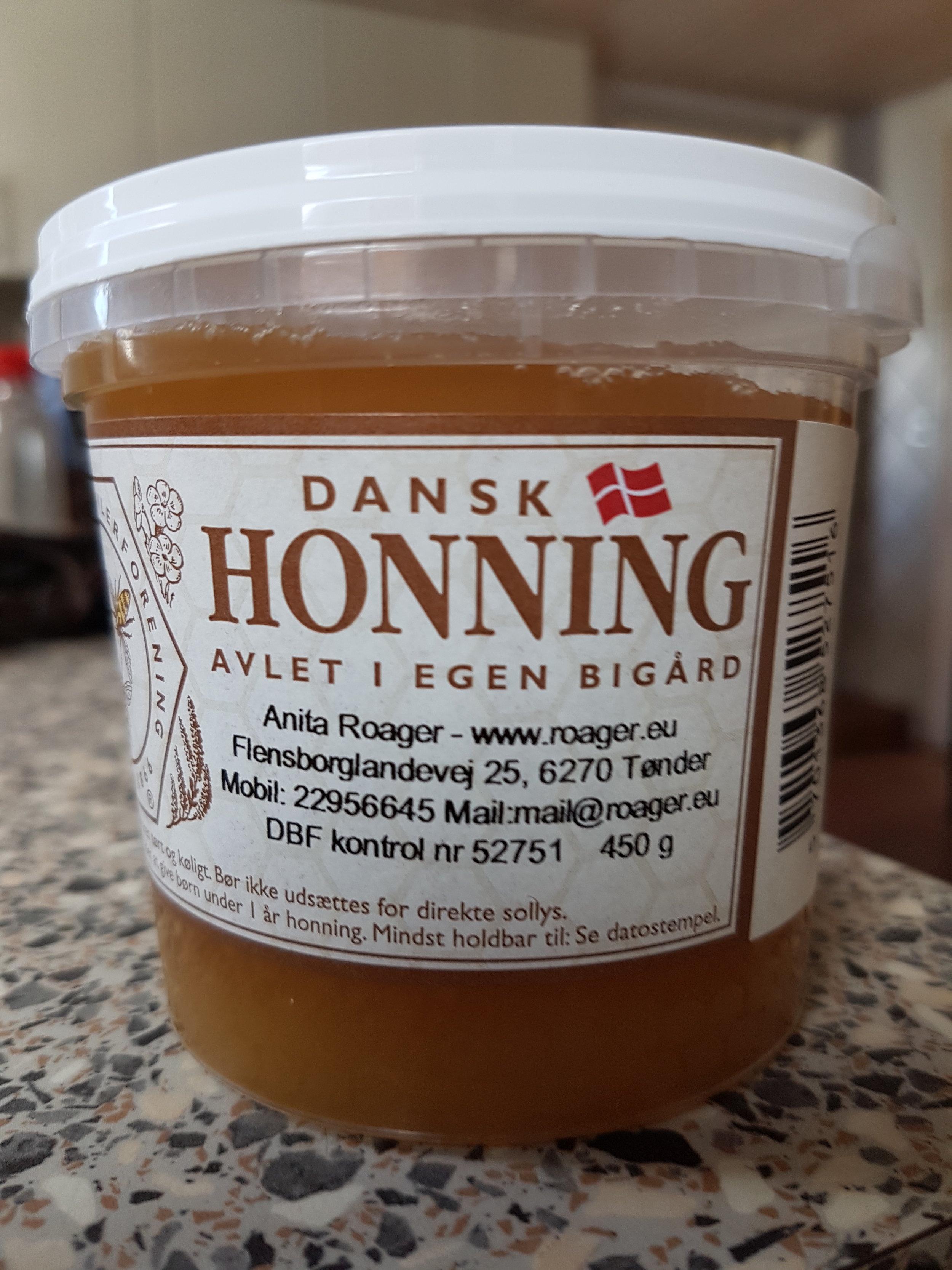 Honning 450 gram (plastglas)