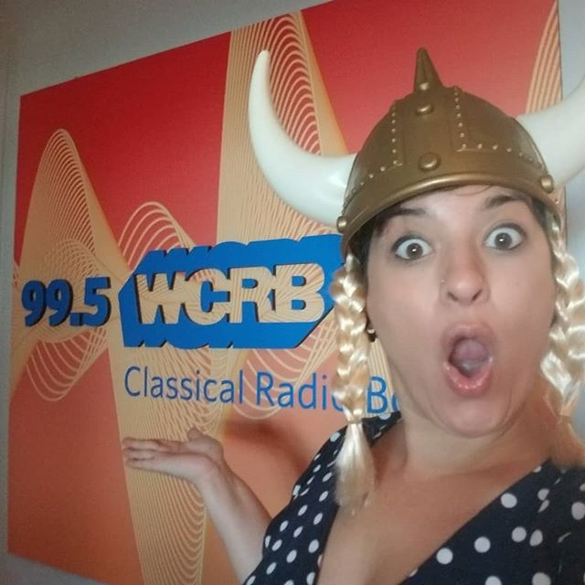 Vocal warmups this morning inspired by this Viking helmet! Catch me live on @995wcrb today July 1, 9am-2pm US EST — listen from anywhere at classicalwcrb.org. 🎙️📻🙃
