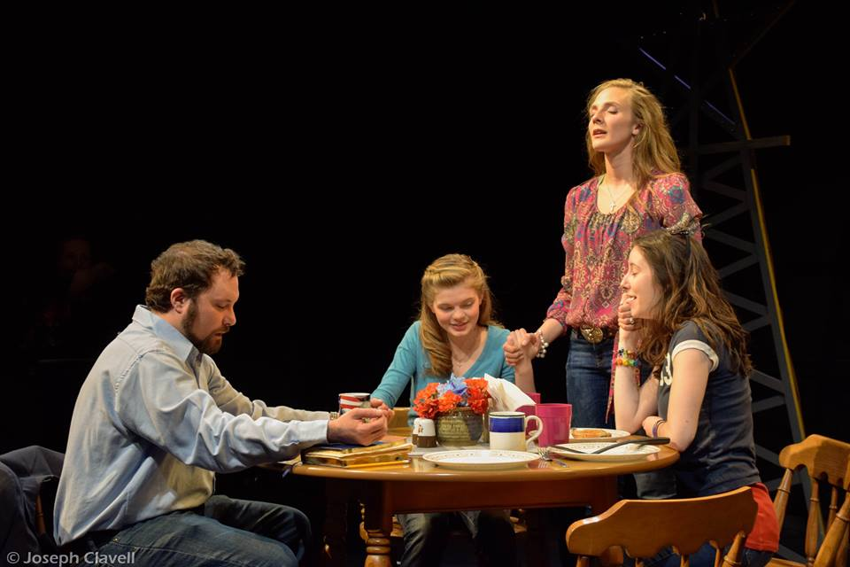 Featuring Greg Wenz as Todd (left), Raven Whitley as Mykelti (left), Elsa Guenther as Bonnie (standing) and Gail Tierney as Clara (right)
