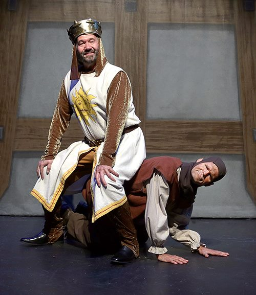 Featuring Kent Fieldsend as King Arthur (left) and Brett Spahr as Patsy (right)