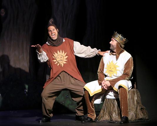 Featuring Brett Spahr as Patsy (left) and Kent Fieldsend as King Arthur (right)