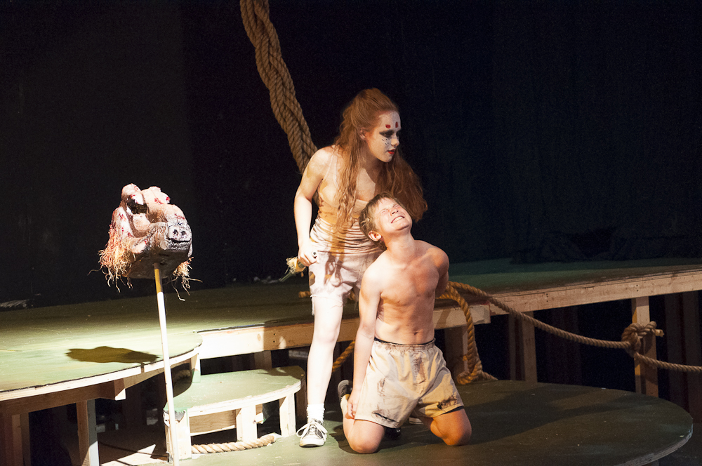 Featuring Mackenzie Cirksena as Roger (left) and Aaron Coffey as Simon (right)