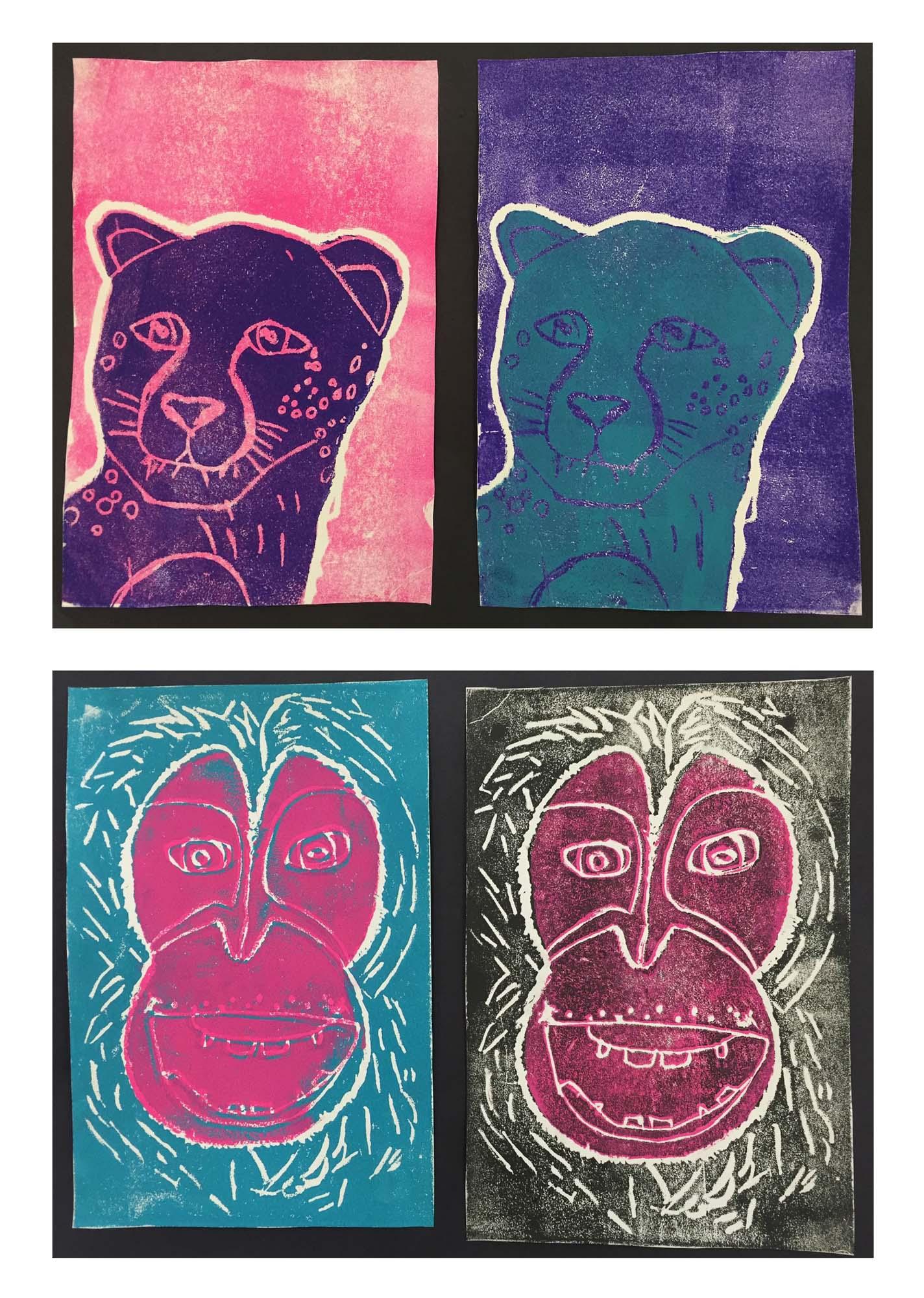 Fourth Grade Reduction Prints