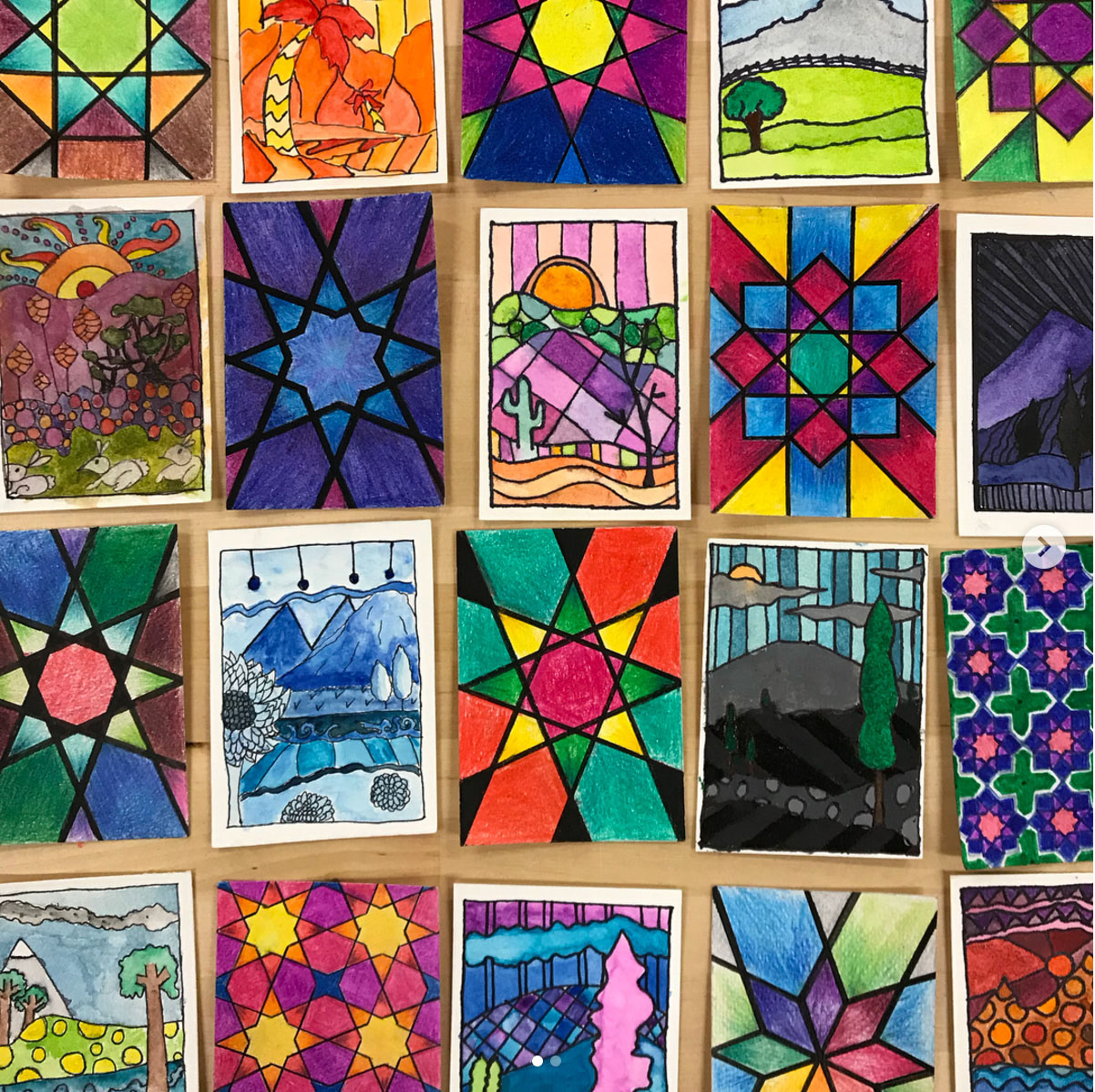 Artist Trading Cards from students in Jordan