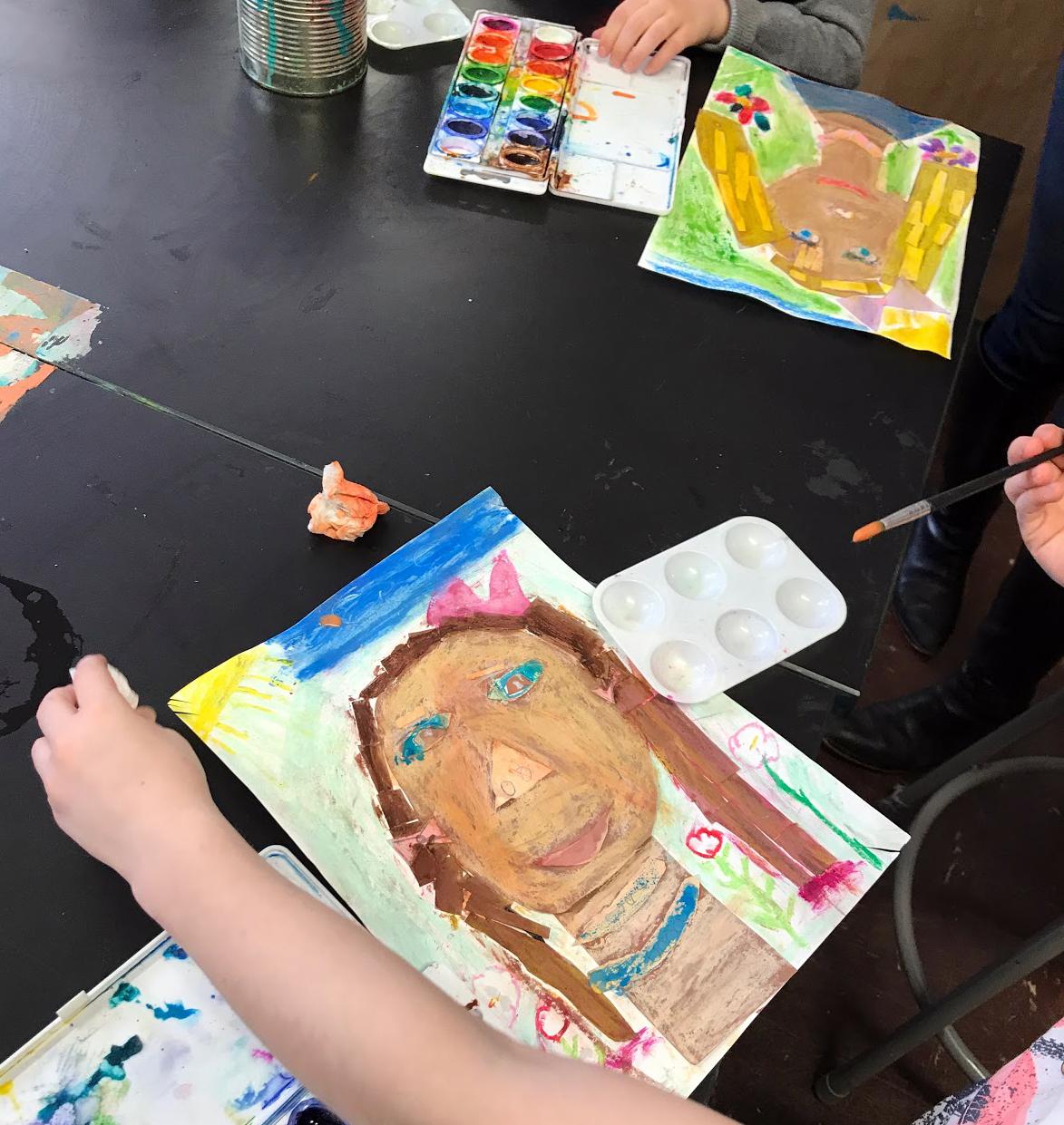 Self portraits, second grade