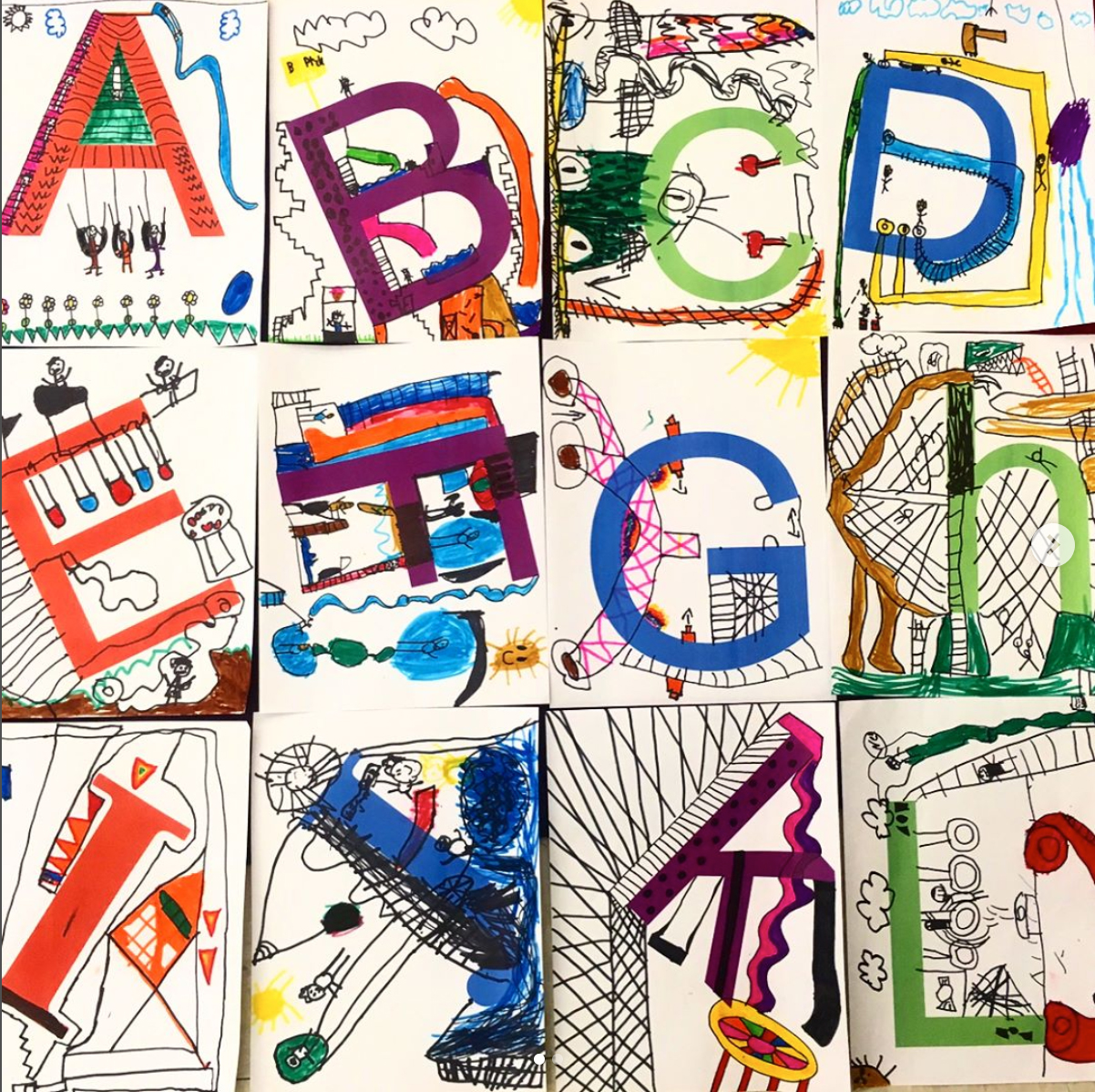 First grade alphabet playground project