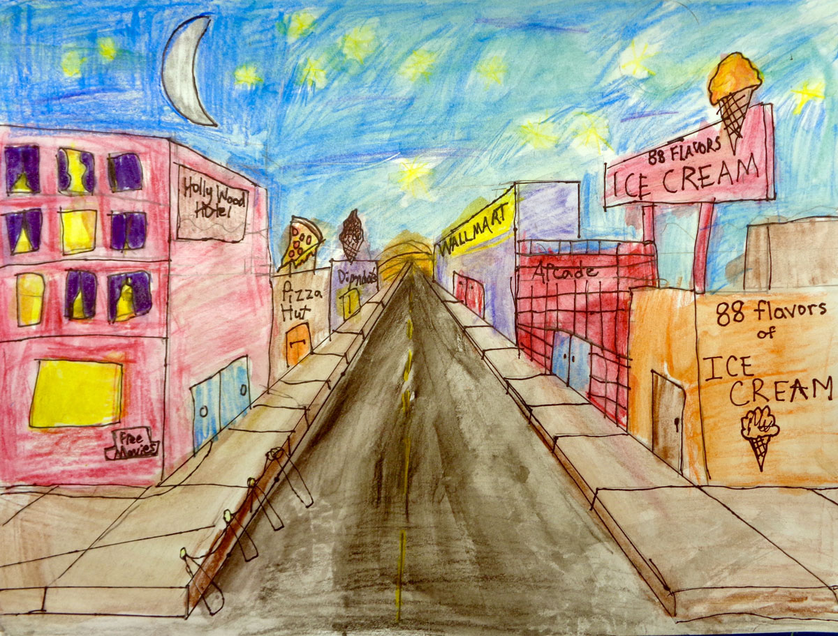 1 Point Perspective, 4th Grade