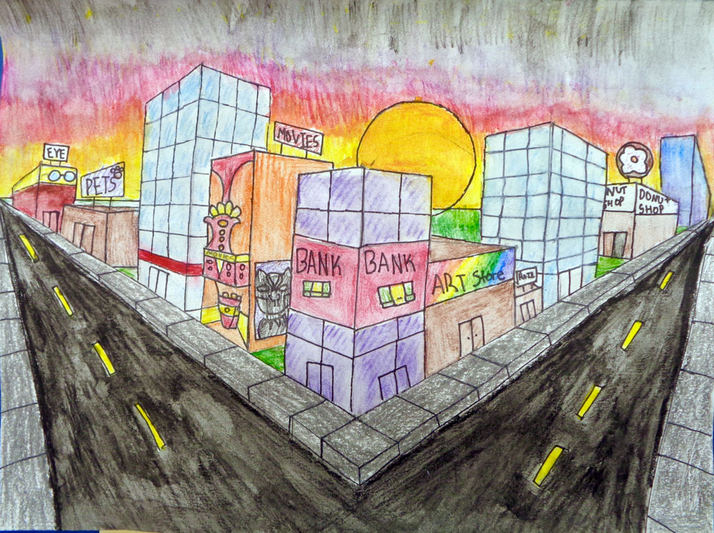 2 Point Perspective, 5th Grade