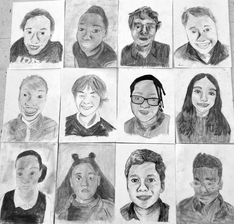 5th Grade Self Portraits