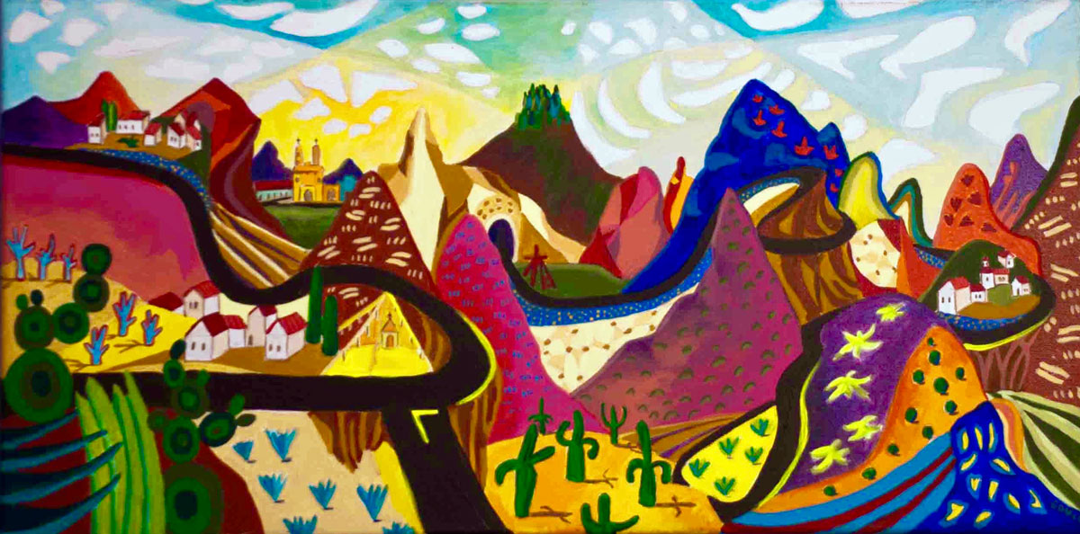 Road to Real Del Monte, Hidalgo   ,  Emily Gould