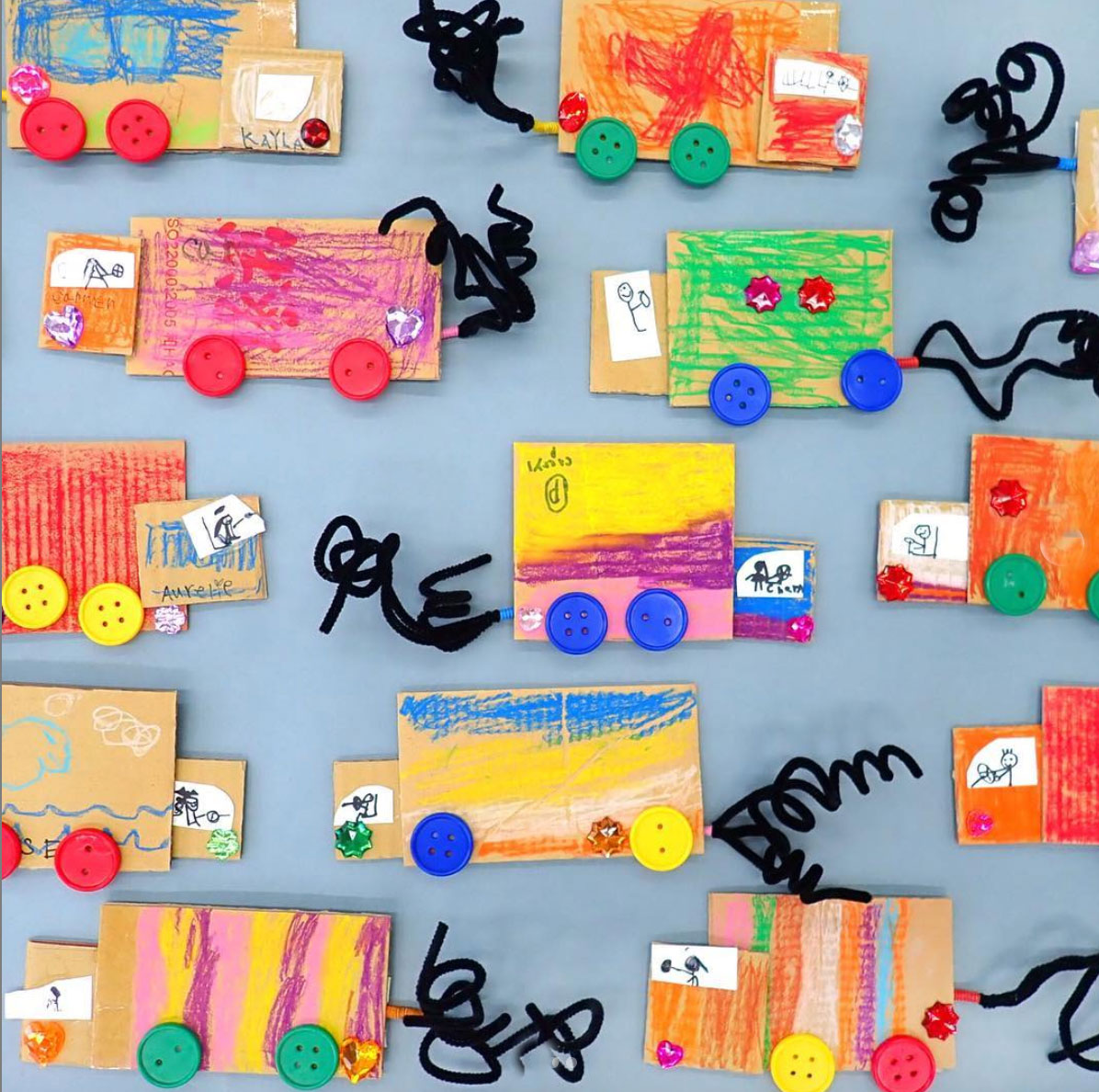Kindergarten cars and trucks, a project about the problems of air pollution