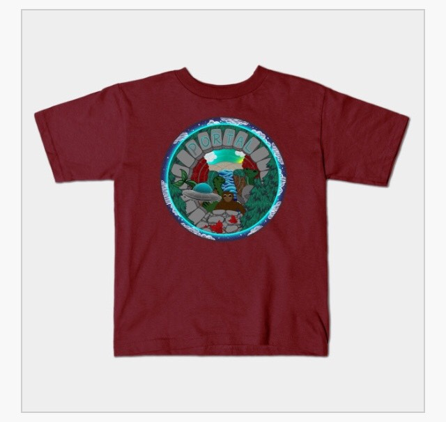 PEER INTO THE PORTAL KID'S SUPERSOFT TEE