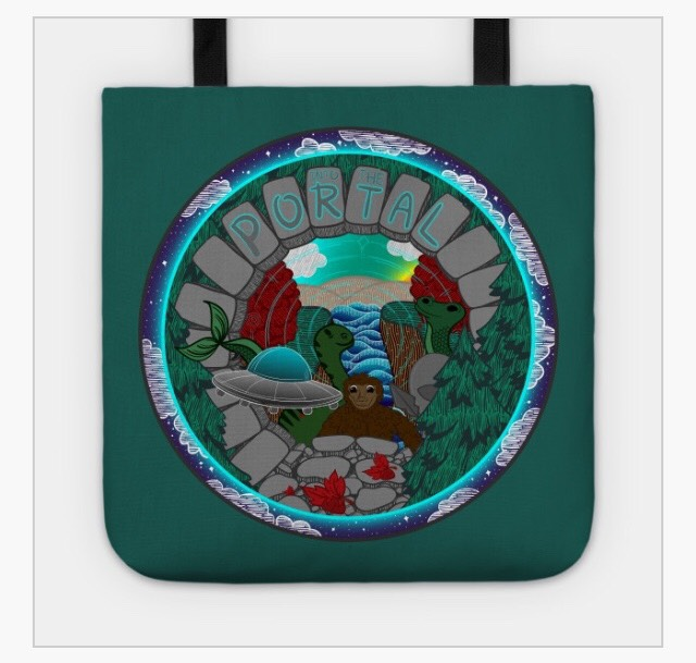 PEER INTO THE PORTAL TOTE BAG