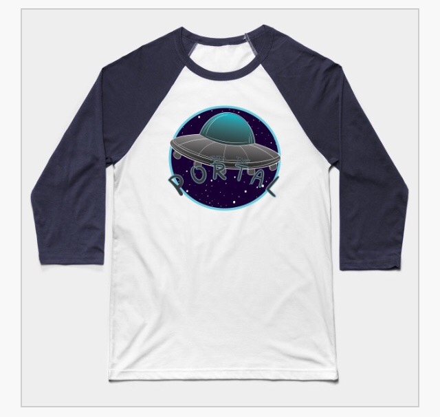 INTO THE PORTAL UFO BASEBALL TEE