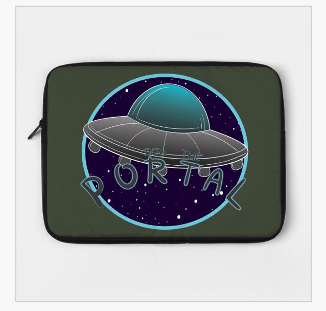 INTO THE PORTAL UFO LAPTOP CASE