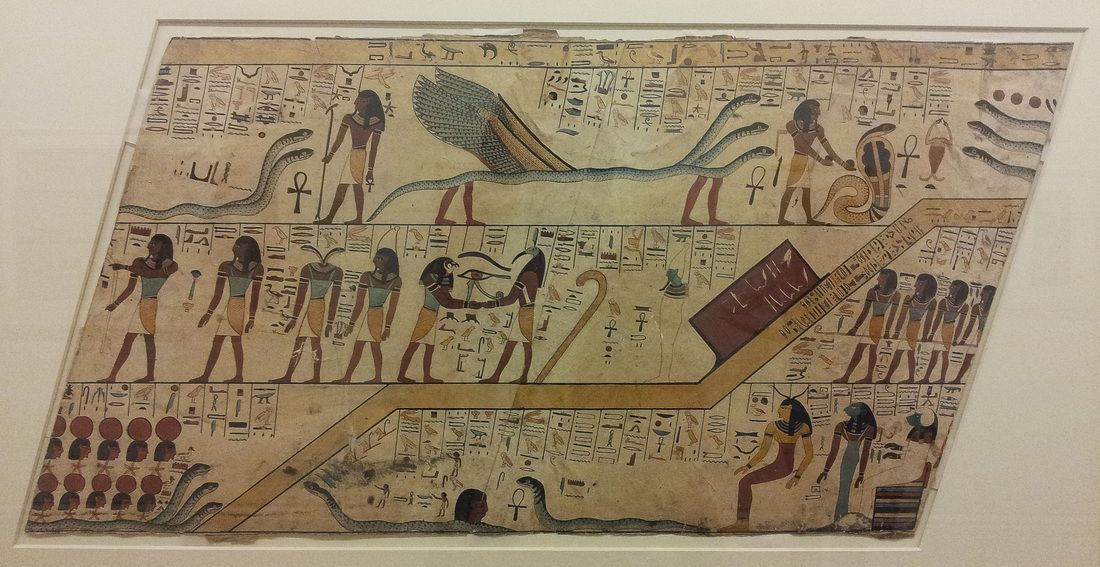 A section of the Amduat depicting various stages of the Duat