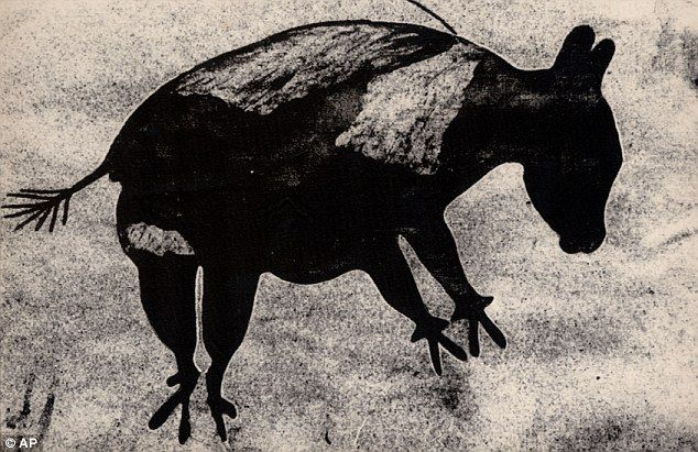 Diprotodon Cave Drawing, Australia. Date Unknown.