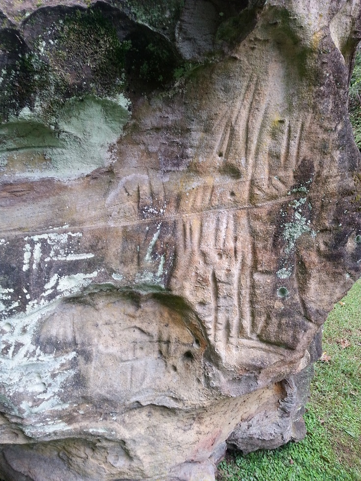 Remnants of Irish Petroglyphs, Dingess, West Virginia