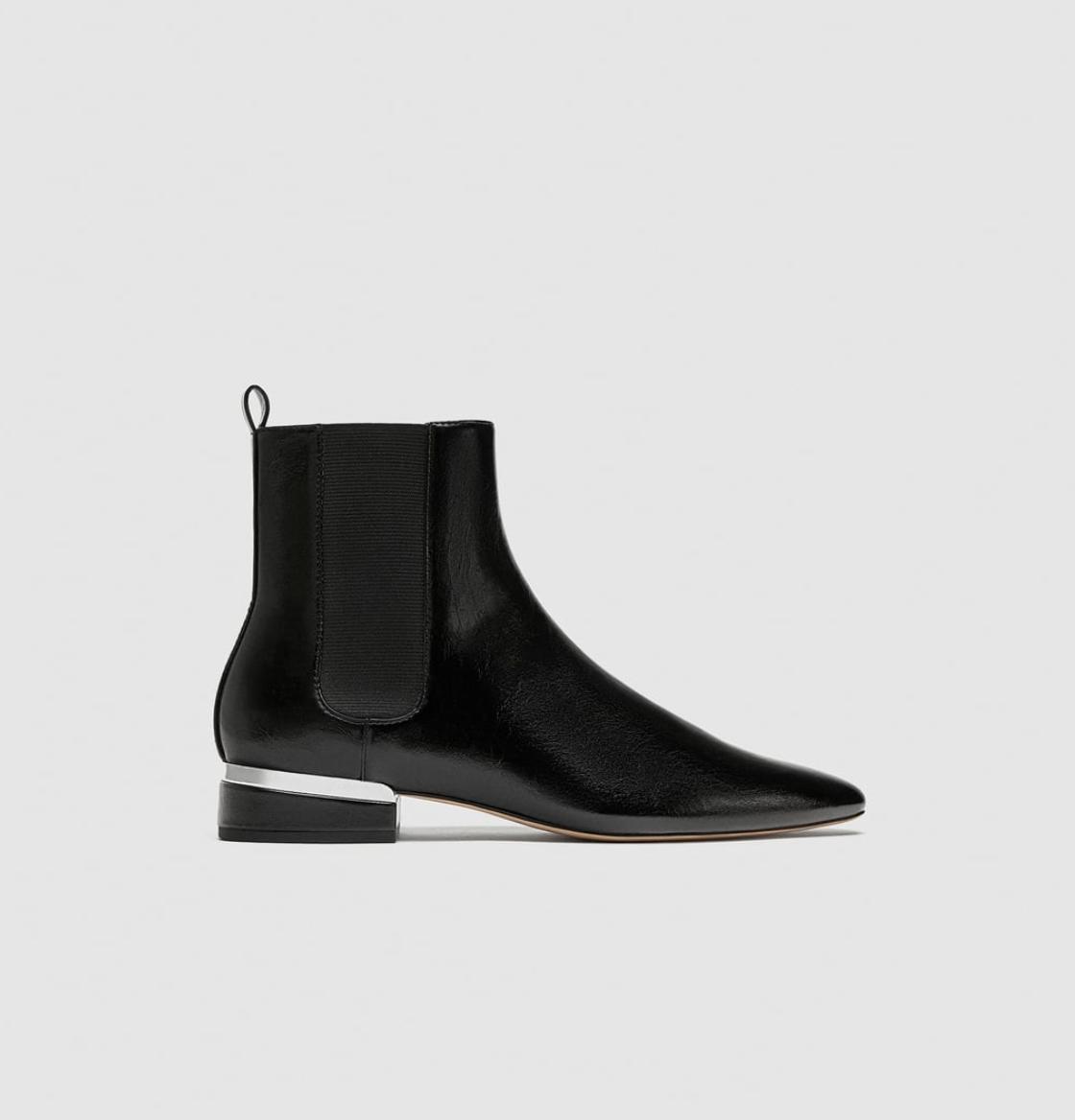 Zara Elasticated Flat Ankle Boot  $69.95