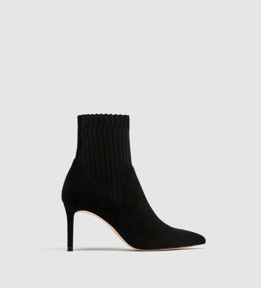Sarita loves - Zara Contrasting Sock Style High Heel Boot$99.00