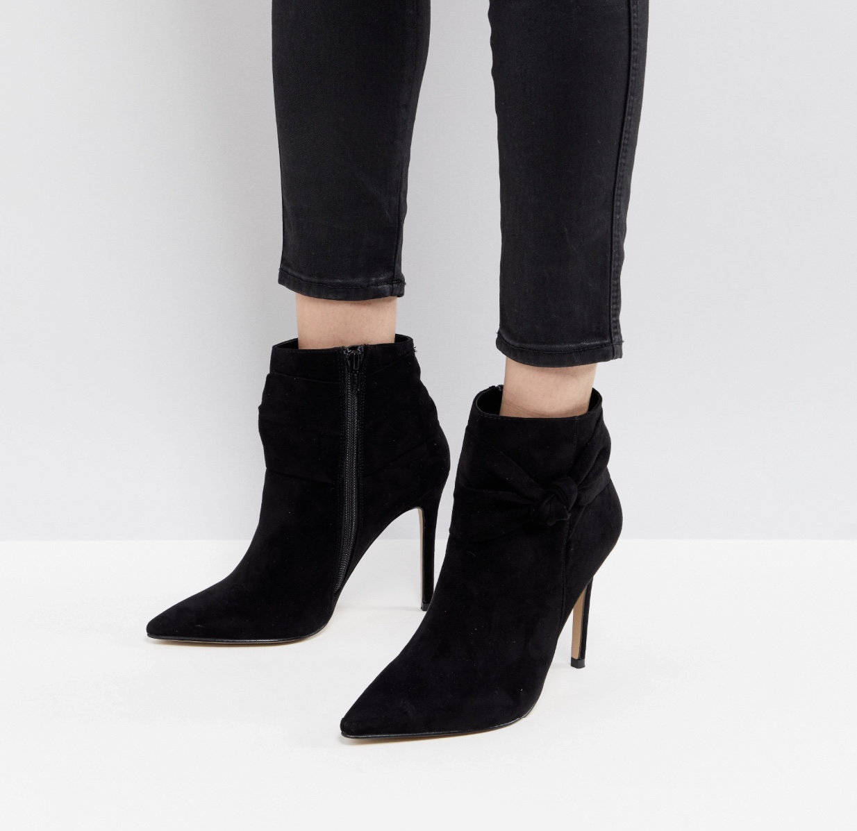 ASOS Lipsy Bow Detail Pointed Ankle Boot  $137.00