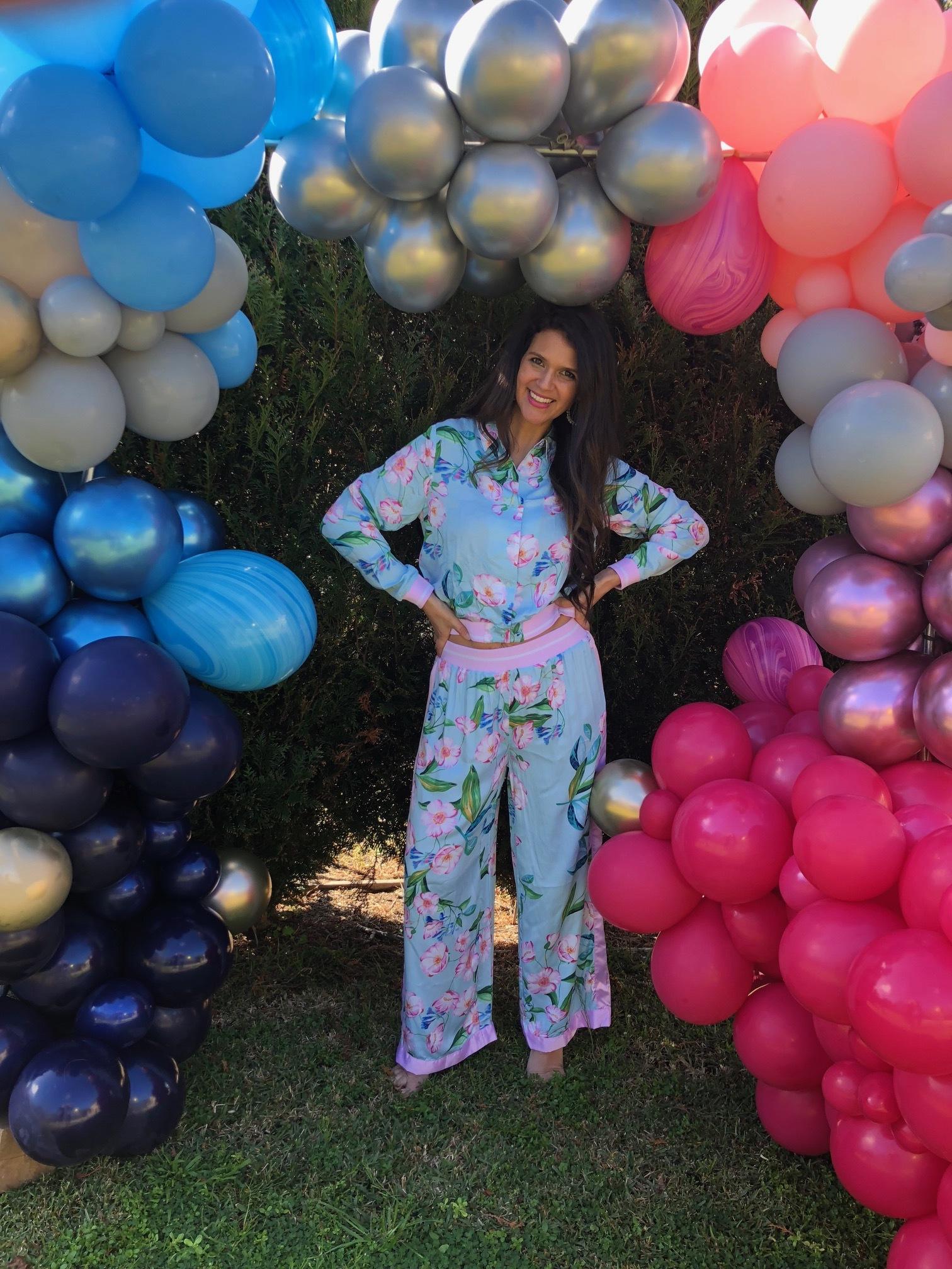Peter Alexander Aqua Floral Fashion PJ Pant  $79.95 &  Peter Alexander Aqua Floral Jacket  $79.95