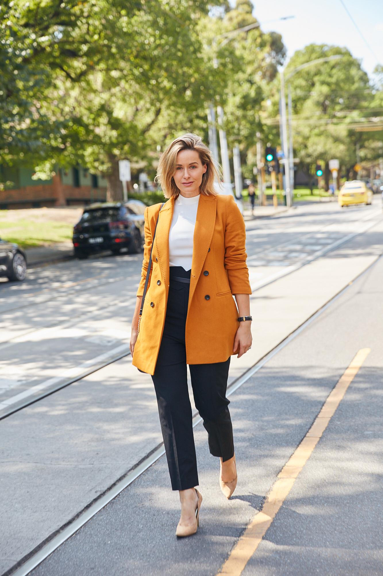 Karen Millen - Sarita wears  Longline Tailored Jacket & Forever Trouser
