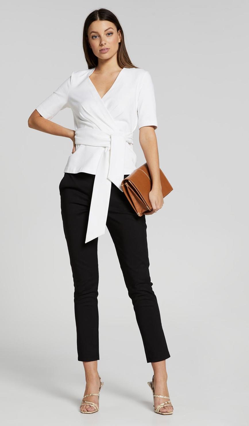 Portmans Elbow Sleeve A Game Ponte Top & The Wheeler Dealer Suit Pant
