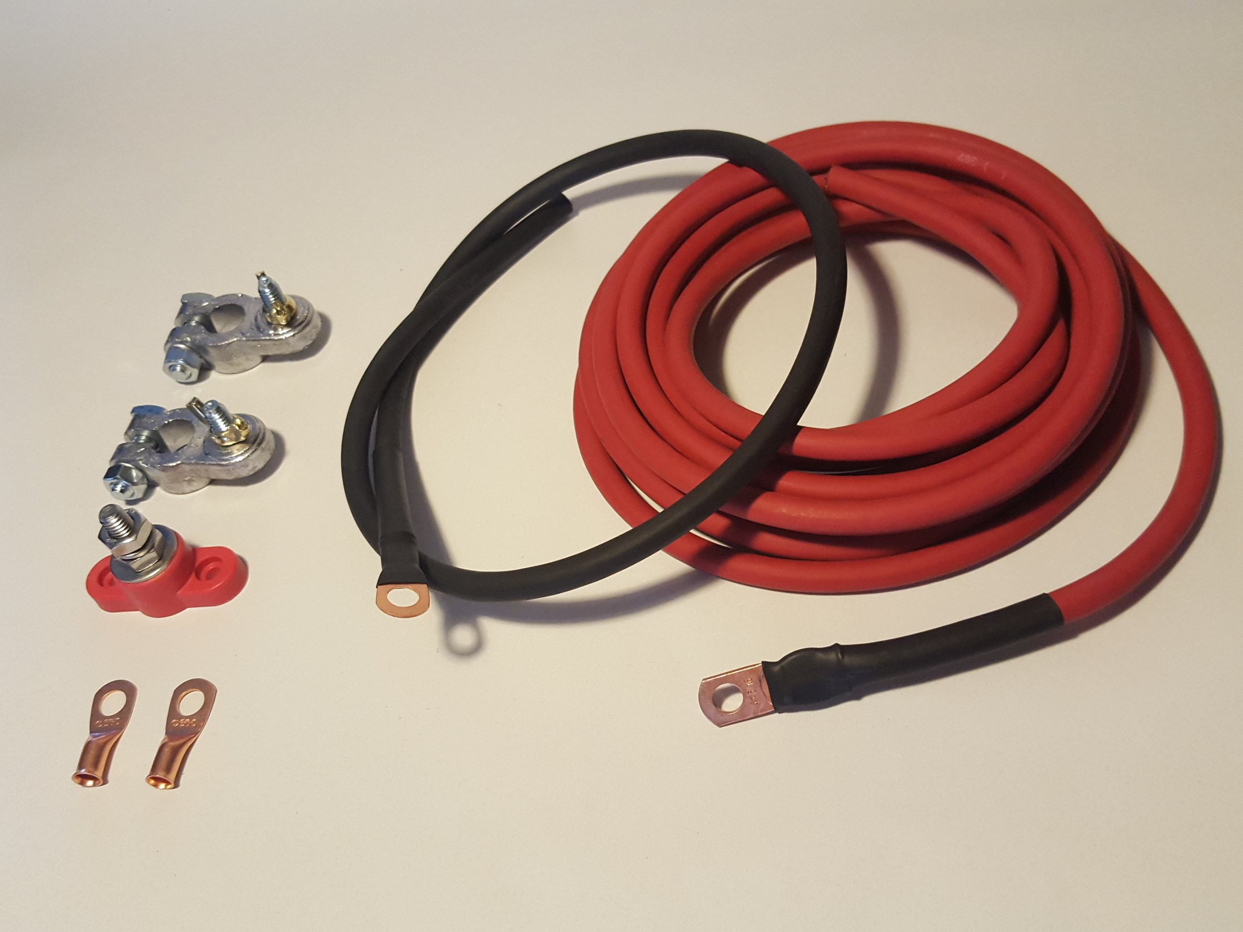 UNIVERSAL FOR ANY VEHICLE MADE IN THE USA BATTERY RELOCATION KIT 0 GAUGE WIRE