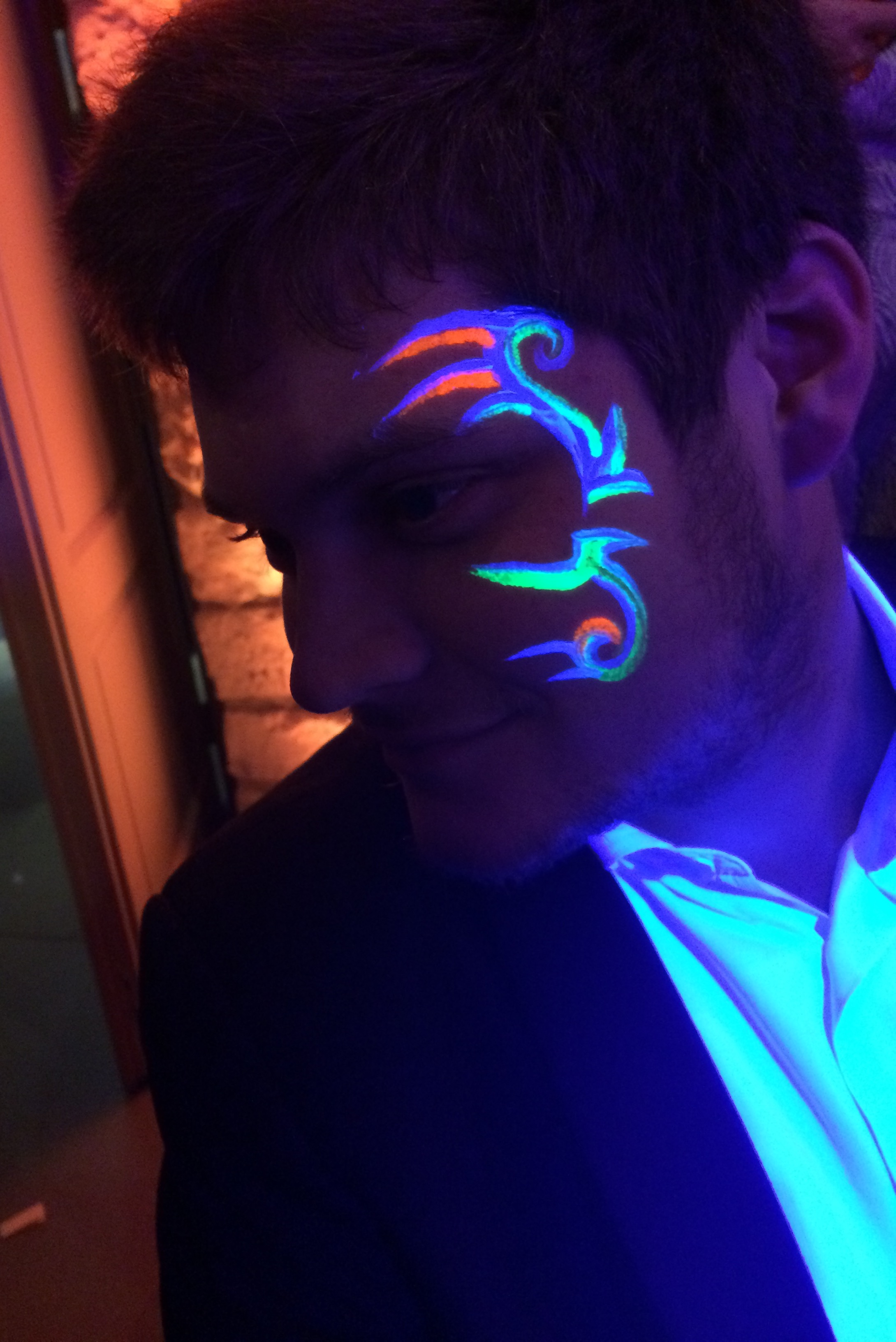 Natamakeup - maquillages - black light - fluo - party