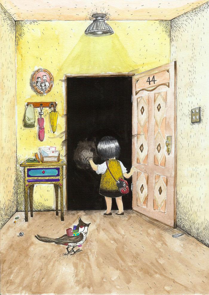 Top 10 shortlisted illustration for Five Mile Illustrator prize. An original graphic story.