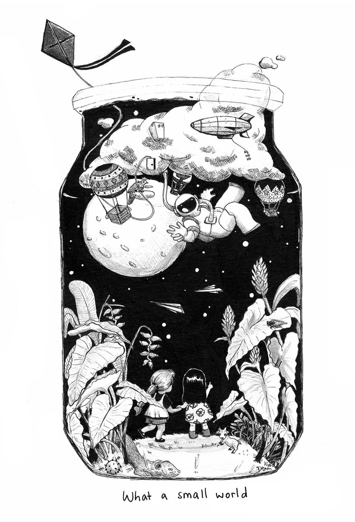 This was made for 'Apizine', a collaboration zine with other Asian-Pacific artists.
