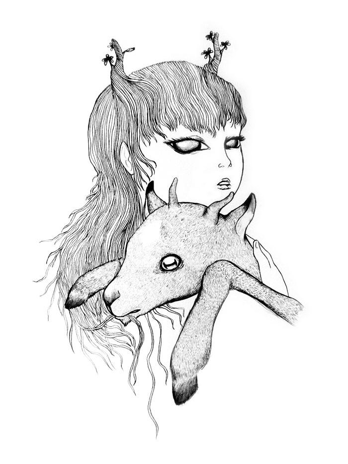 Goat Girl - Graphite Pencil, 2011