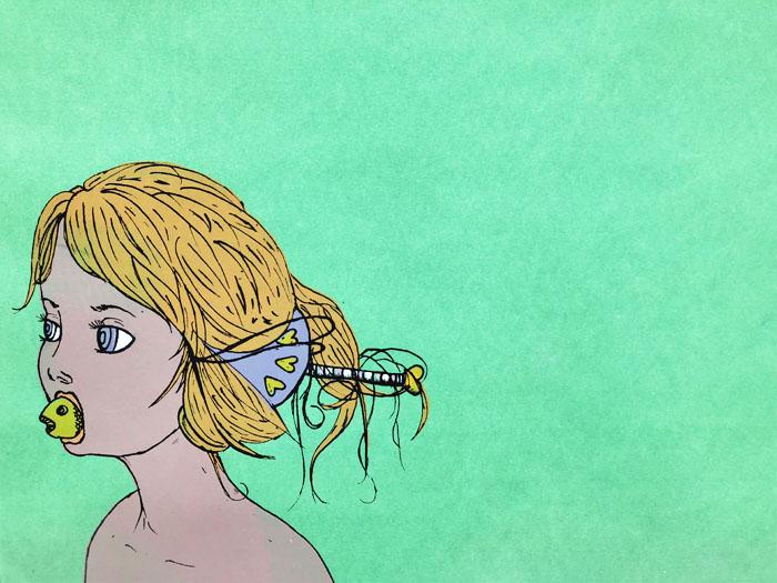 Fish Girl - Screenprint, 2012