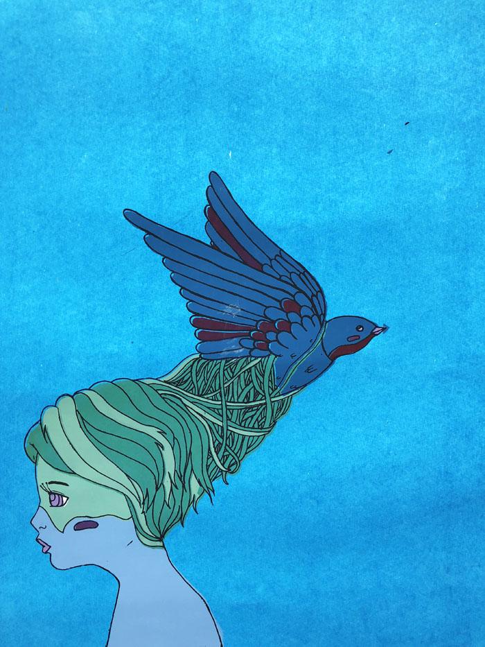 Bird Girl - Screenprint, 2012