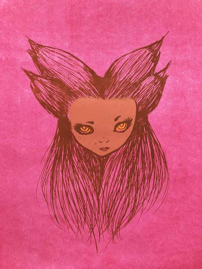 Pink Beast Girl - Screenprint, 2012