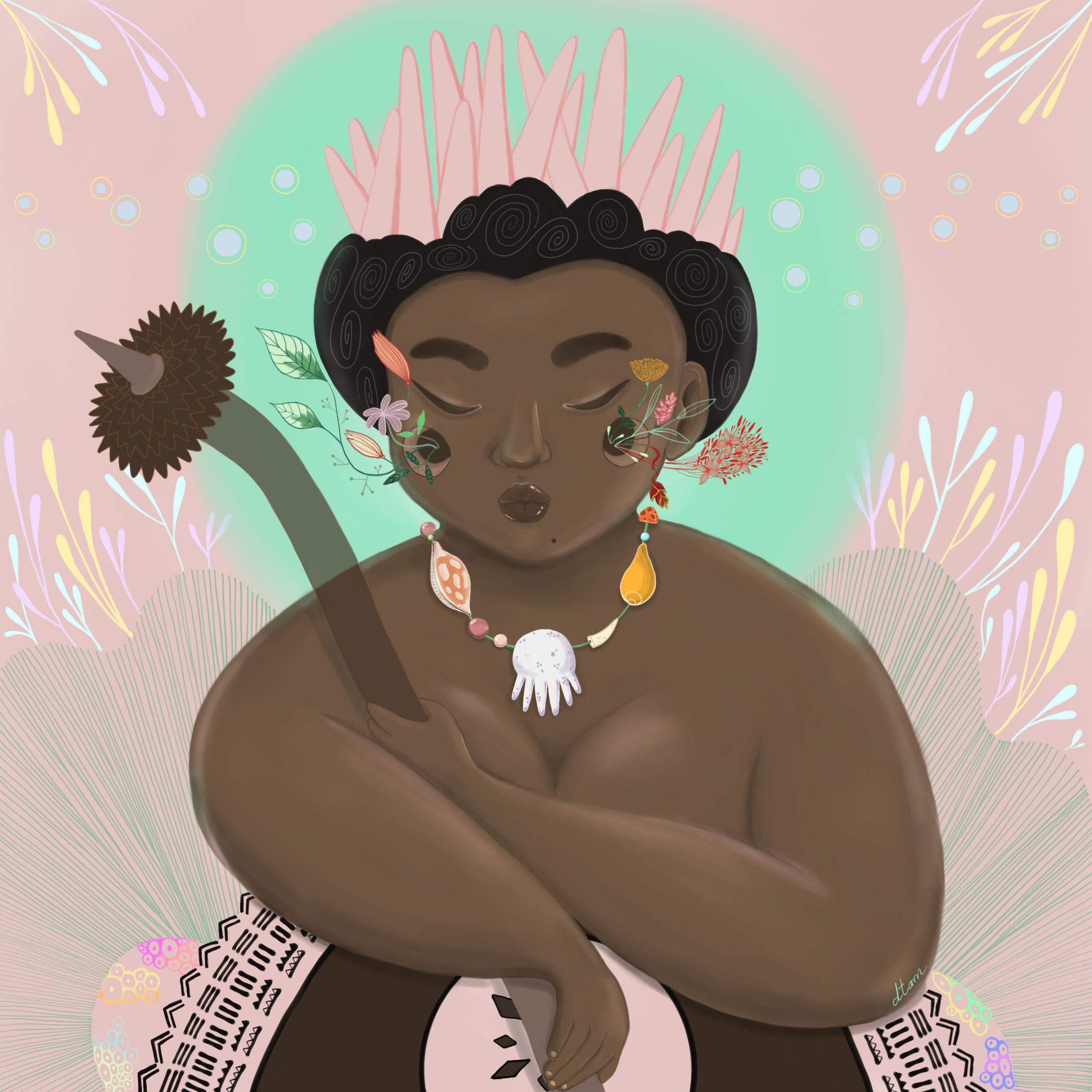 Fijian Lady -   digital, 2018