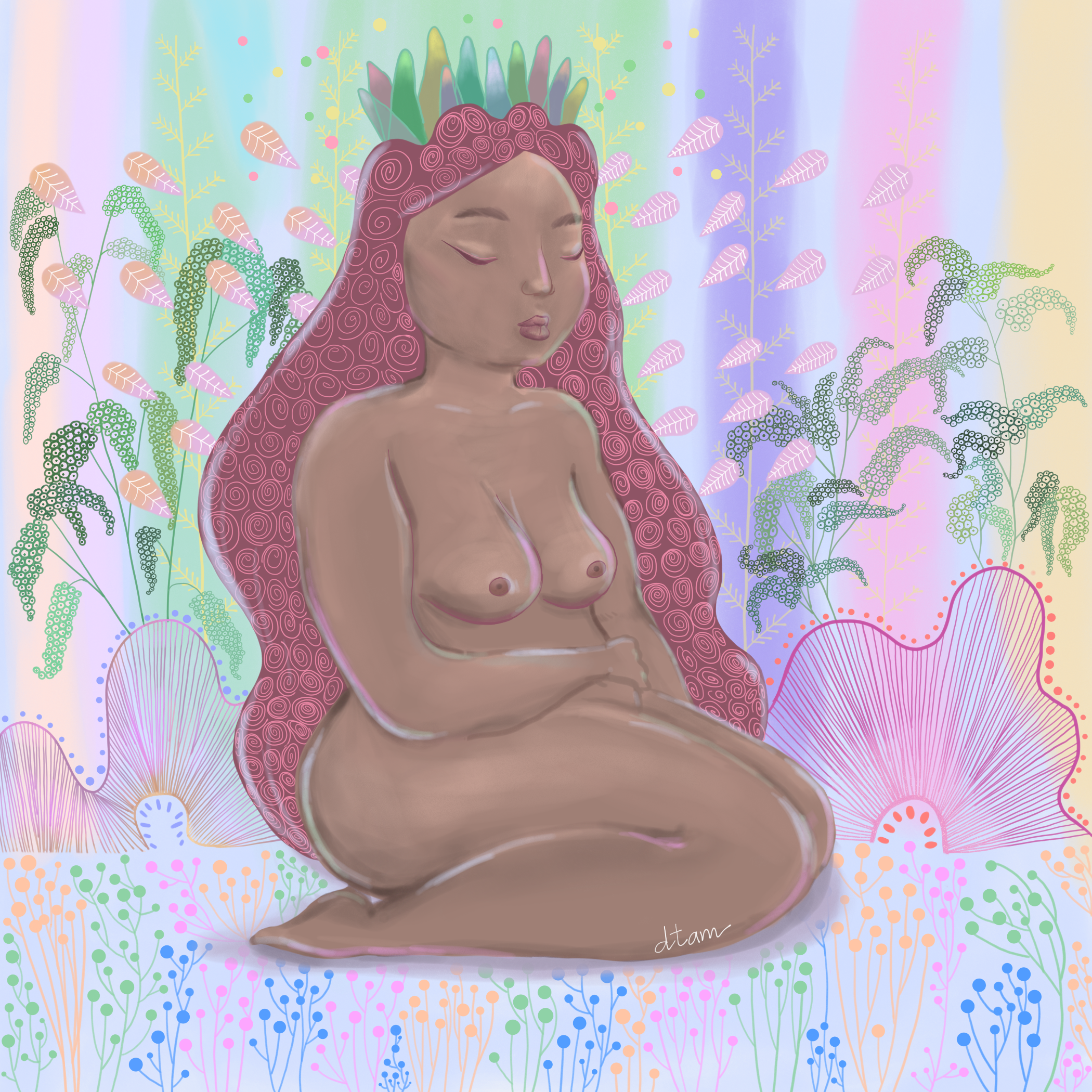 Pastel Lady -   digital, 2018