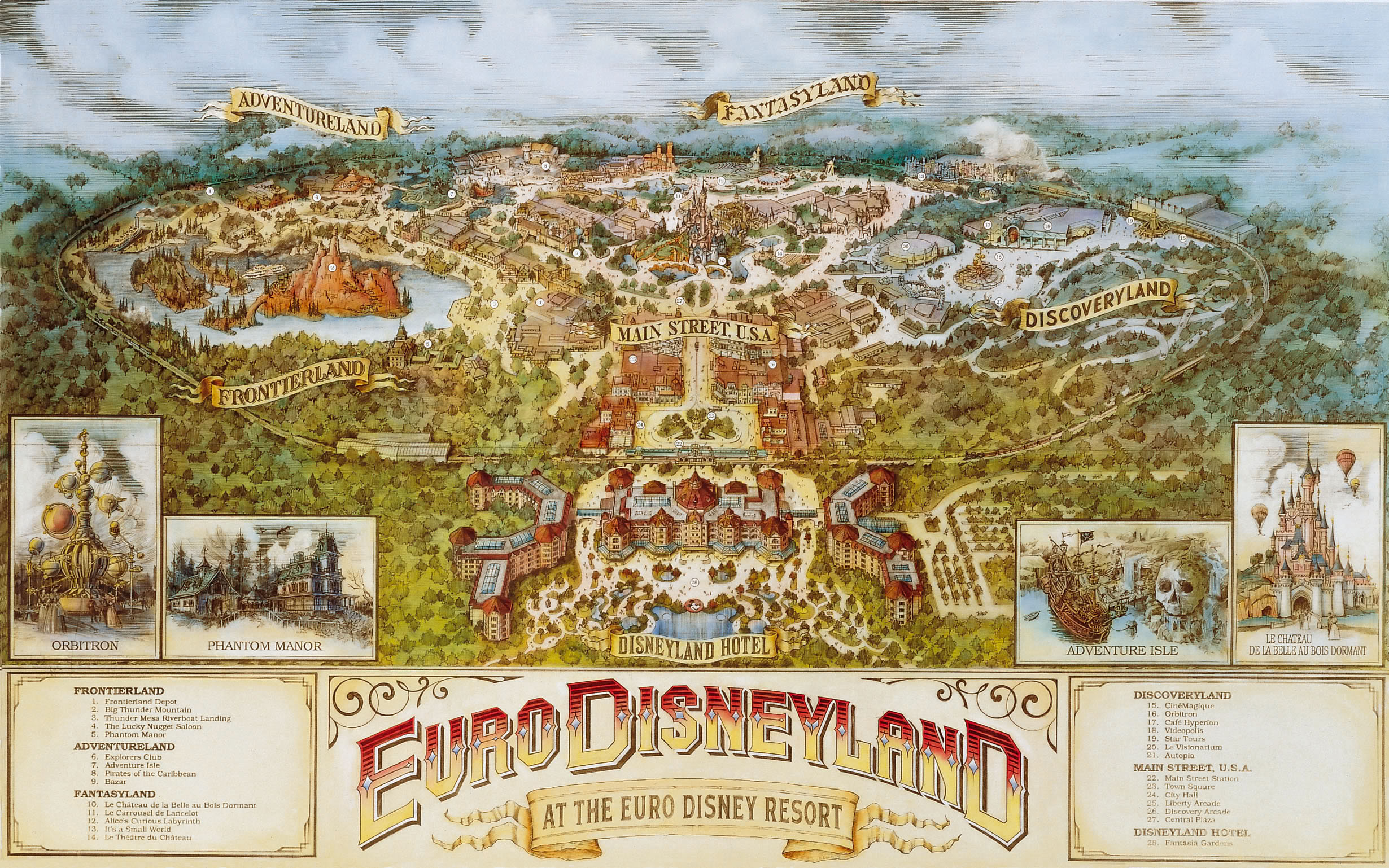 Euro Disneyland was opened in Paris in 1992.