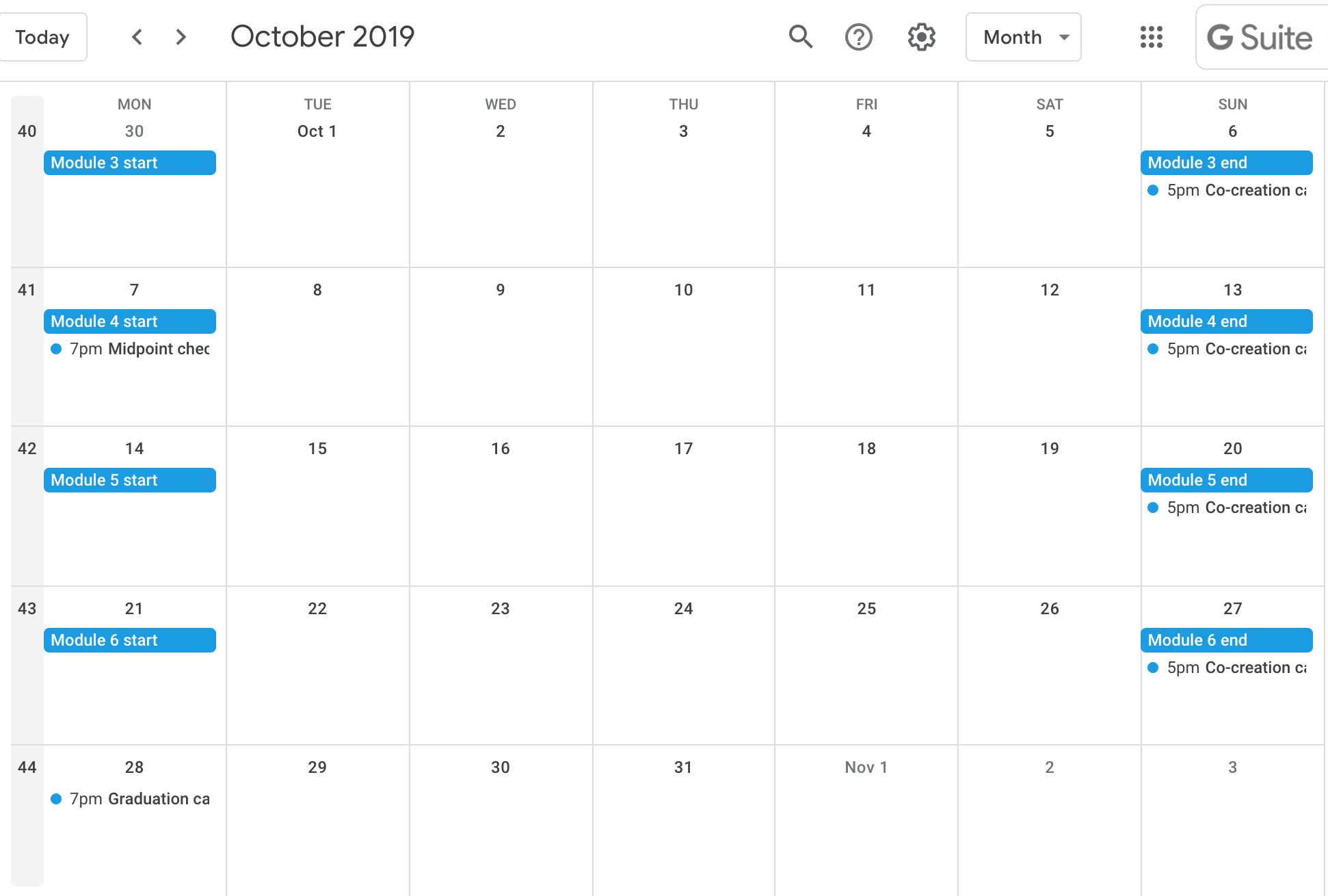 d.MBA2: April calendar.